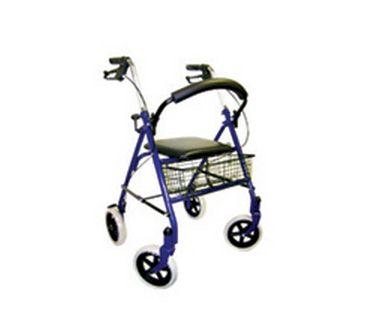 """4 Wheel Std Rollator 8"""" Wheels"""