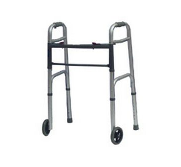 Two Button Folding Walker with Wheels